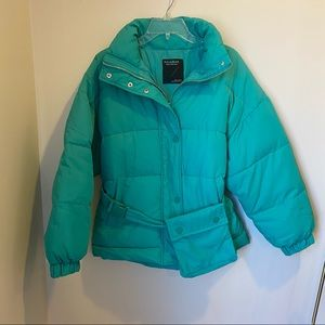 Pull & Bear Belted Puffer Jacket